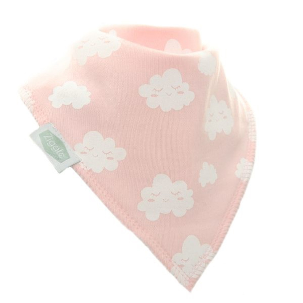 Pink Winking Clouds Dribble Bib