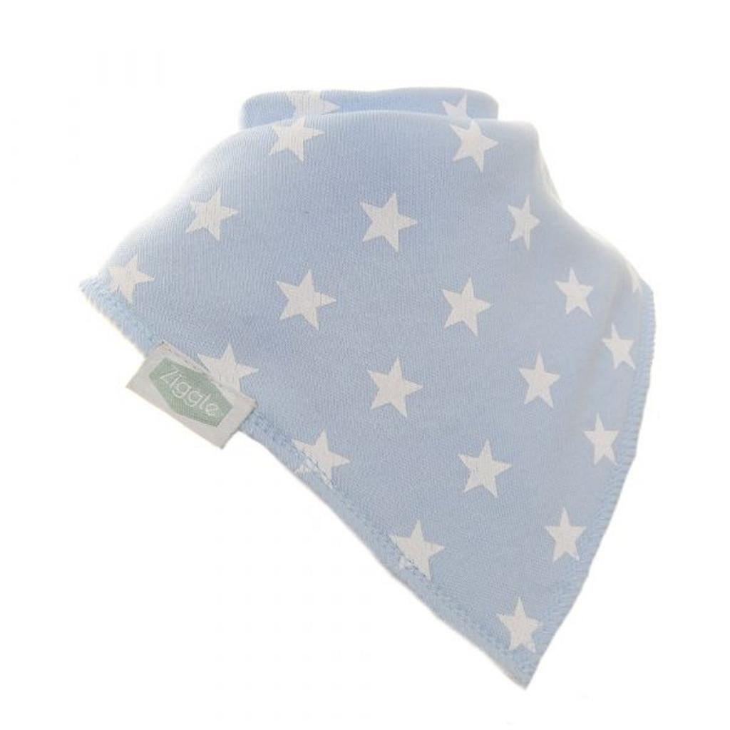 Blue With White Stars Dribble Bib