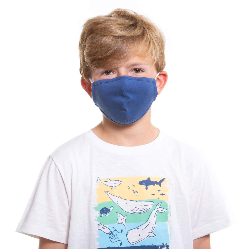 Navy Face Covering - Child
