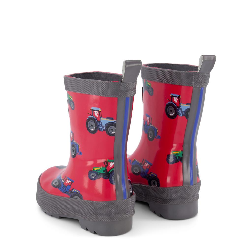 Farm Tractors Shiny Rain Boots