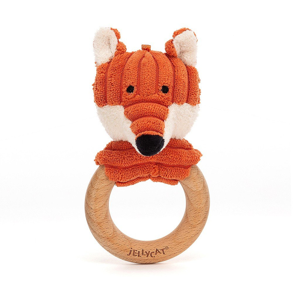 Cordy Roy Baby Fox Wooden Ring Toy