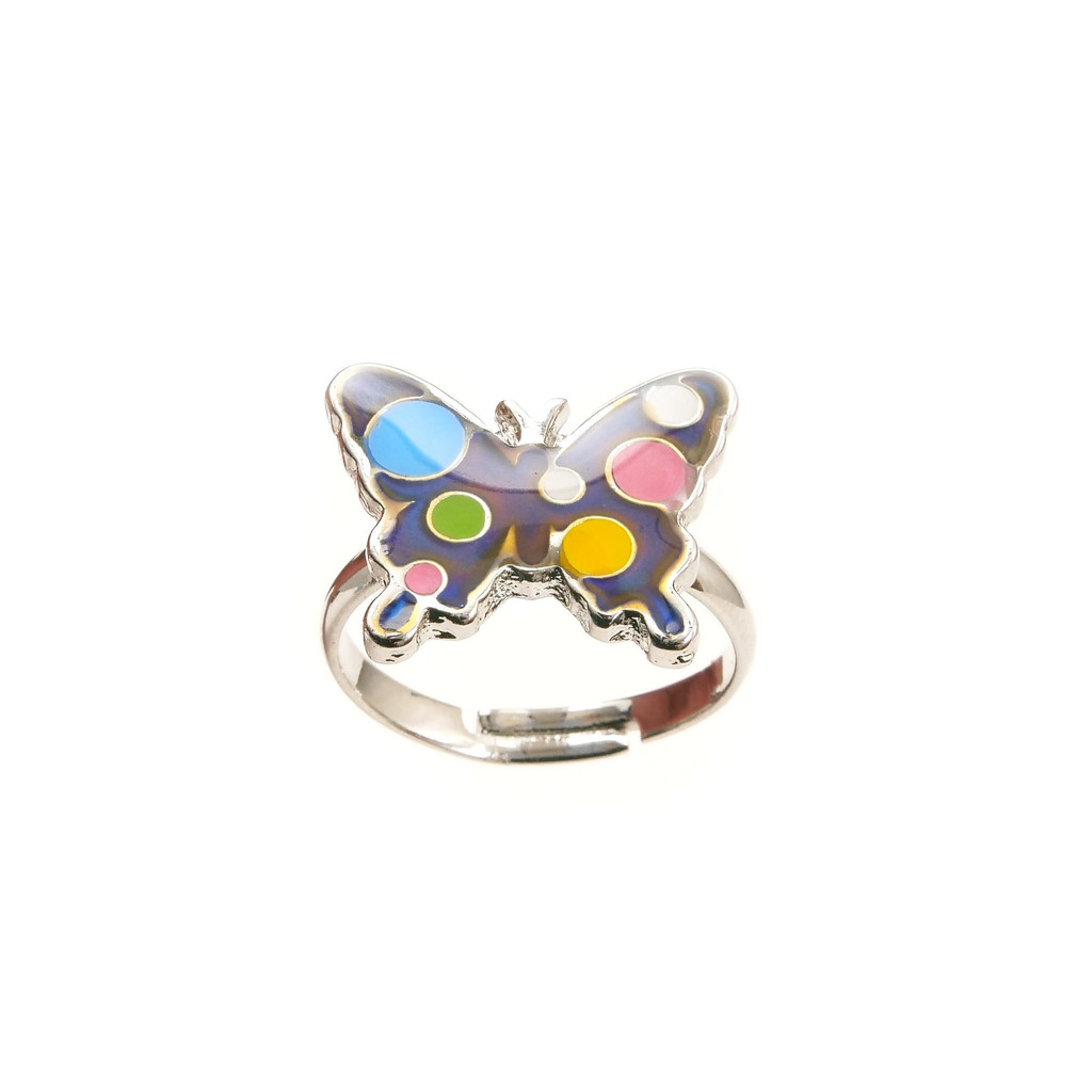 Butterfly / Band Mood Ring – Assorted Colours & Designs