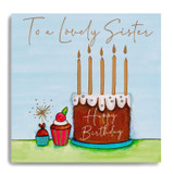 Happy Bday Sister - Large Cake MC17