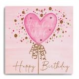 Happy Bday Wife - Pink Balloon MC15