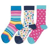 3 Pack Flower Socks