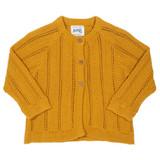 Chevron Cardi - Mustard Yellow