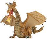 Dragon with Flame (Gold) - Papo