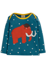 Bobby Applique Top  - Steely Blue Star/Mammoth