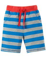 Little Stripy Shorts - Blue Bold Stripe/Monkey