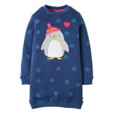 Eloise Jumper Dress - True Blue Snowball/Penguin