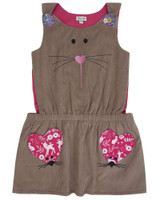 Cat And Mouse Cord Pinafore