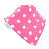 Simply Stars on Dark Pink Dribble Bib