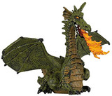Green Winged Dragon With Flame - Papo
