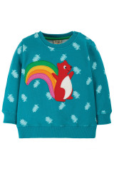 Jump About Jumper - Teal Acorn Leaves/Squirrel