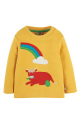 Little Discovery Applique Top - Bumble Bee/Cow