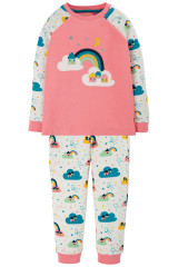 Ace PJs - Guava Pink/Rainbow