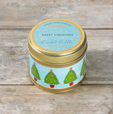 Large Candle - Blue Spruce Merry Christmas