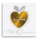Large Gold Heart - To My Husband With Love GLX05