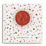 Large Red Balloon - 80 Happy Birthday LA68