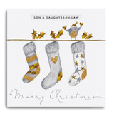 Bird with Hanging Stockings - Son & Daughter in Law Merry Christmas GLX08