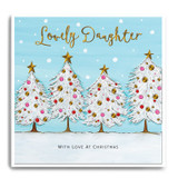 Four white Christmas Trees - Lovely Daughter, With Love At Christmas FPX17