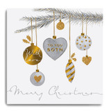 Hanging Baubles - With Love to You Both GLX02