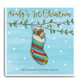 Hedgehog In A Stripy Stocking - Baby's 1st Christmas FPX20
