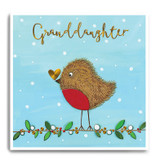 Large Fluffy Robin With Gold Heart - Granddaughter FPX18