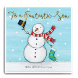 Large Snowman With Stocking - To A Fantastic Son, With Love At Christmas FPX16