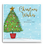 Large Xmas Tree with stars - Christmas Wishes FPX34