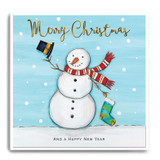 Large Snowman With Stocking - Merry Christmas FPX35