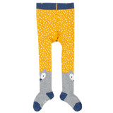 Little Cub Tights - Mustard With Cream Speckle
