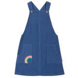 Rainbow Pinafore - Navy Blue Corduroy