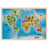 Wooden World Puzzle