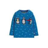 Button Applique Top - Swimming Shoals/Penguin