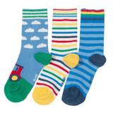 3 Pack Farm Play Socks