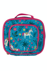 Pack A Snack Lunch Bag - Teal Indian Horse