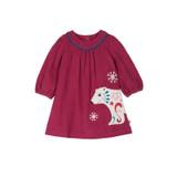 Little Berry Bear Cord Applique Dress
