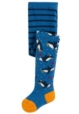 Little Norah Tights - Sail Blue Penguins
