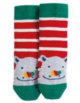 Perfect Little Pair Socks - Tango Red Stripe/Rhino