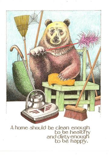 798 Simon Drew Funny Card Joy Of Gardening