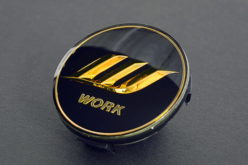 Black/Gold Work W Center Cap - Big Base