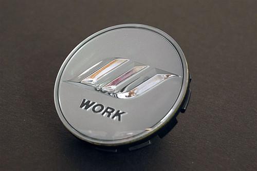 Silver/Silver Work W Center Cap - Big Base