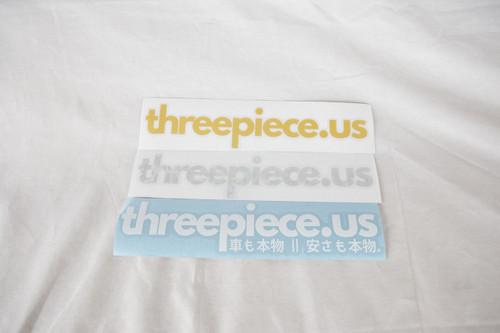 Threepiece.us Die Cut Sticker