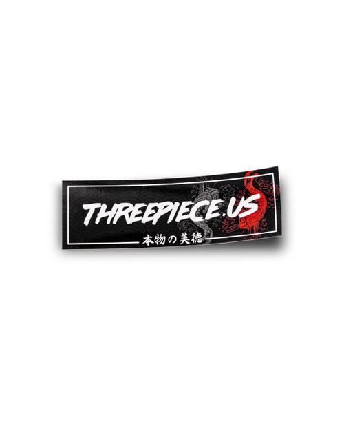 threepiece.us Box Logo Sticker - Koi Fish Print