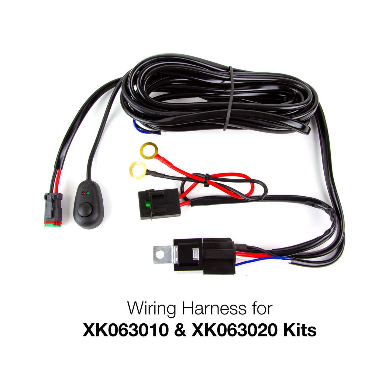 wire harness for 2 in 1 led light bar high beam light bar wiring diagram raxiom wrangler jk light bar
