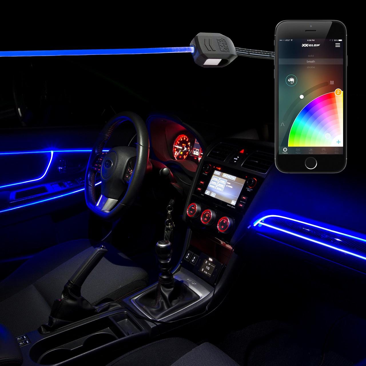 Led Fiber Optic Kits For Cars Xkchrome Smartphone App
