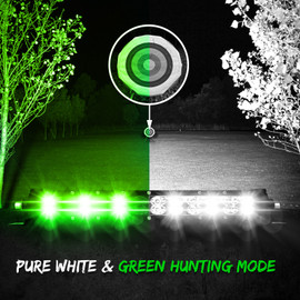 Green Hunting and pure white light used to display a vast area and target in the distance