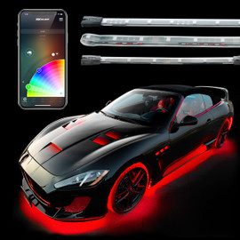 Car Underglow Interior App Controlled Light Kit