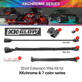 Extension Wire Kit for XKchrome & 7 Color Series for Motorcyle